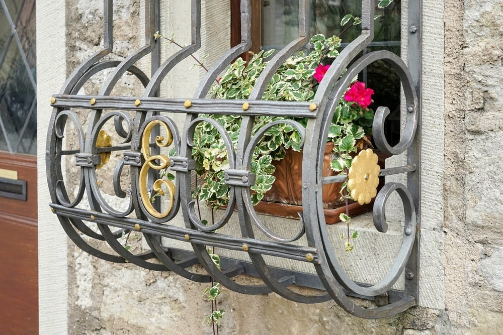 Security bars over a window in Rothenburg