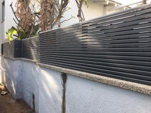 גדר אלומיניום - מבט מקרוב