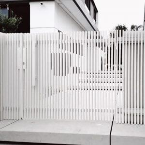 שער אלומיניום אדריכלי מעוצב