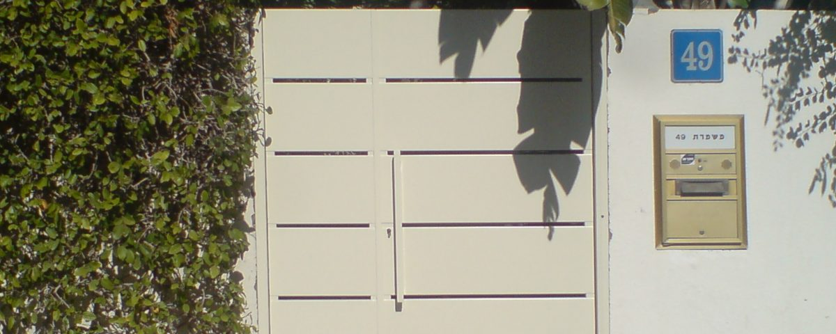 שער כניסה אלומיניום לחצר