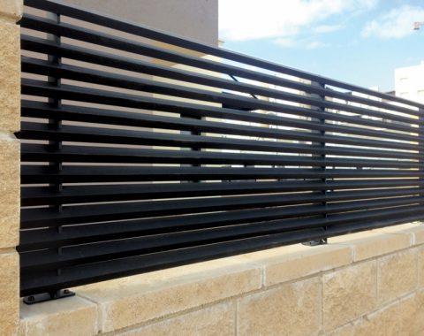 גדר אלומיניום בצבע שחור - השחור חוזר ובגדול!