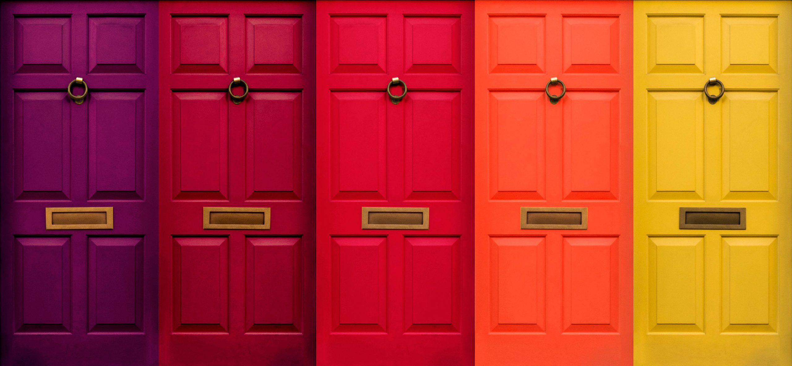 דלתות אלומיניום במגון צבעים